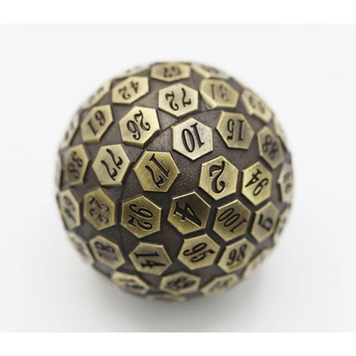 Foam Brain Games DICE D100 METAL BRONZE 45MM