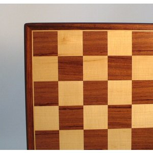 "Worldwise Imports CHESS BOARD 17.25"" PADAUK & MAPLE w/ 2"" SQ"