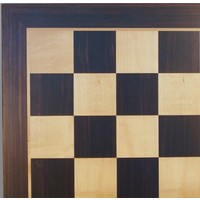 "CHESS BOARD 19.5"" EBONY & MAPLE w/ 2.2"" SQ"