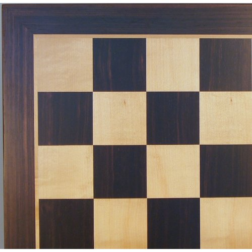 "Worldwise Imports CHESS BOARD 19.5"" EBONY & MAPLE w/ 2.2"" SQ"