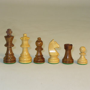 "Worldwise Imports CHESSMEN 3"" GERMAN SHEESHAM/BOXWOOD"