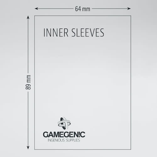 GAMEGENIC DECK PROTECTOR: (80) PRIME DOUBLE SLEEVING - BLK / CLR