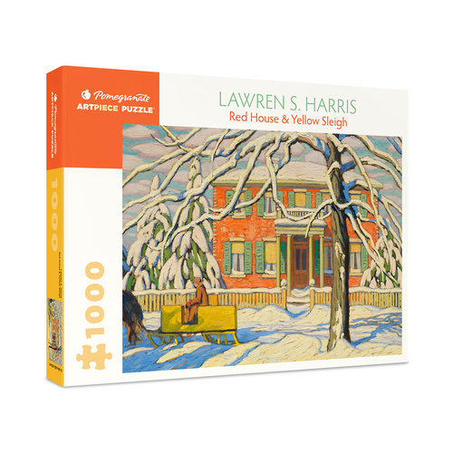 POMEGRANATE PM1000 LAWREN S HARRIS - RED HOUSE & YELLOW SLEIGH
