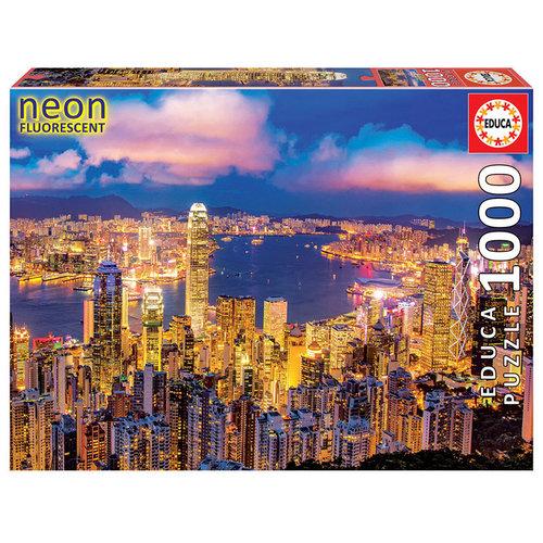 Educa ED1000 NEON HONG KONG SKYLINE (GLOW)