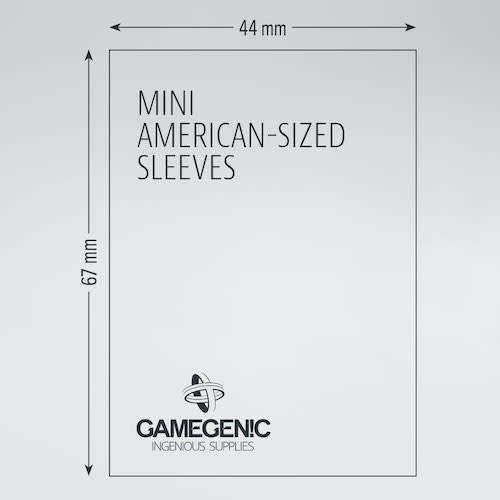 GAMEGENIC DECK PROTECTOR: PRIME - MINI AMERICAN-SIZED SLEEVES (50)