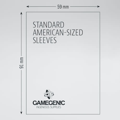 GAMEGENIC DECK PROTECTOR: PRIME - STANDARD AMERICAN-SIZED SLEEVES (50)