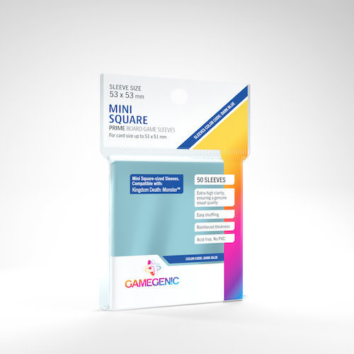 GAMEGENIC DECK PROTECTOR: PRIME - MINI SQUARE-SIZED SLEEVES (50)