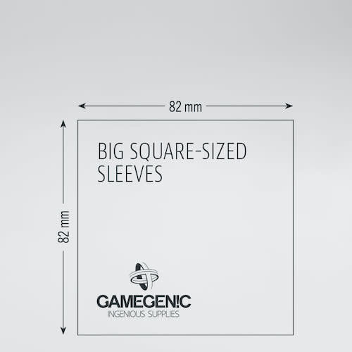 GAMEGENIC DECK PROTECTOR: PRIME - BIG  SQUARE-SIZED SLEEVES (50)