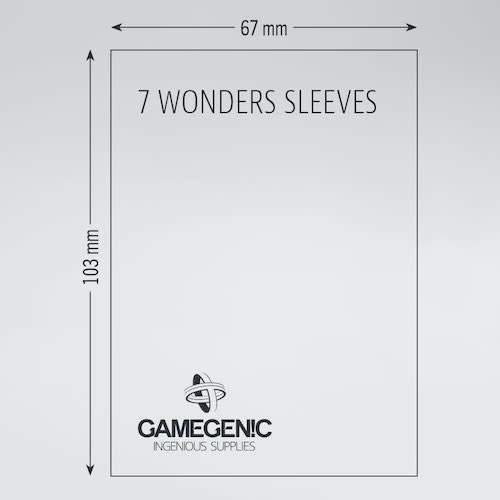 GAMEGENIC DECK PROTECTOR: PRIME - 7 WONDERS SLEEVES (80)