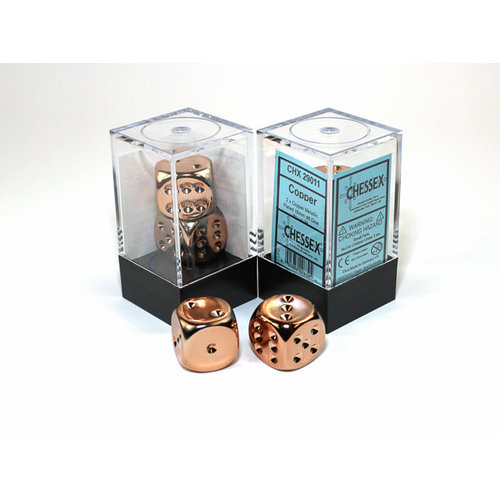 Chessex DICE PAIR 16mm COPPER PLATED