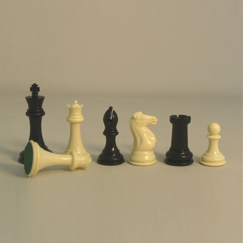 "Worldwise Imports CHESSMEN 4"" TOURNAMENT PLASTIC Triple-Weighted w/ Double Queens"