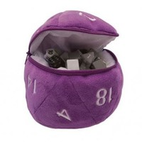 DICE BAG: D20 PLUSH - PURPLE