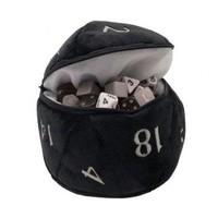DICE BAG: D20 PLUSH - BLACK