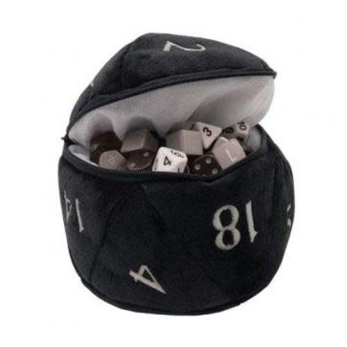 Ultra Pro International DICE BAG: D20 PLUSH - BLACK