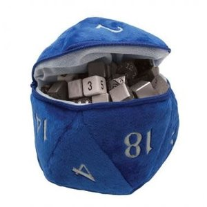 Ultra Pro International DICE BAG: D20 PLUSH - BLUE