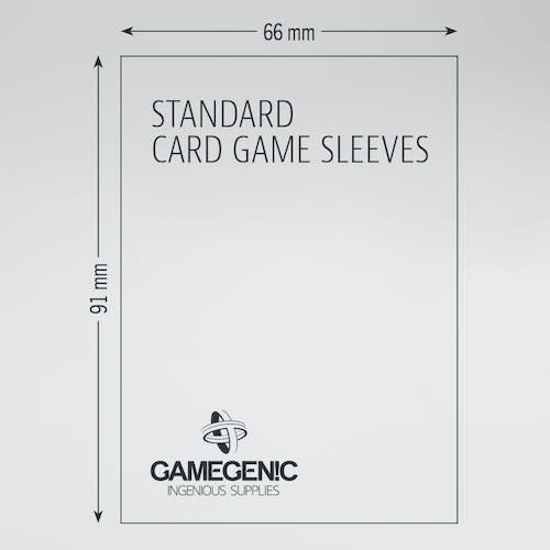 GAMEGENIC DECK PROTECTOR: (100) PRIME DOUBLE SLEEVING - BLK / CLR