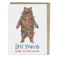 HOLIDAY CARD-DECK YOURSELF