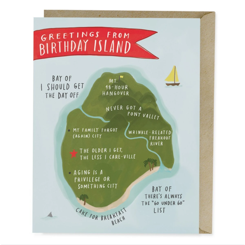 EM AND FRIENDS (FORMERLY EMILY MCDOWELL STUDIOS) CARD-BDAY ISLAND