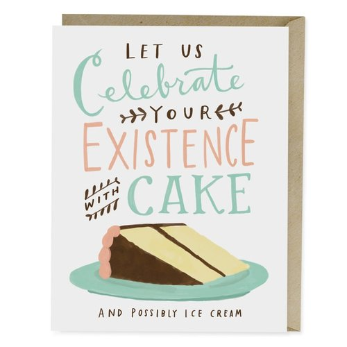 EM and Friends CARD-CELEBRATE WITH CAKE BDAY