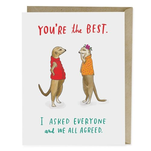 EM AND FRIENDS (FORMERLY EMILY MCDOWELL STUDIOS) CARD-YOU'RE THE BEST