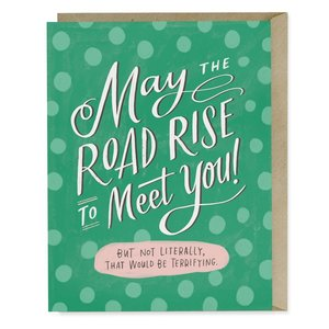 EM AND FRIENDS (FORMERLY EMILY MCDOWELL STUDIOS) CARD-ROAD RISE TO MEET YOU