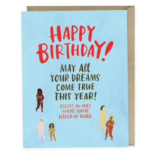 EM AND FRIENDS (FORMERLY EMILY MCDOWELL STUDIOS) CARD-NAKED AT WORK BIRTHDAY