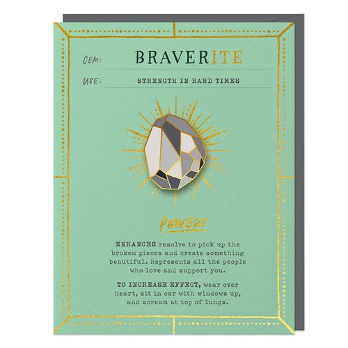 EM AND FRIENDS (FORMERLY EMILY MCDOWELL STUDIOS) CARD-BRAVERITE w/PIN