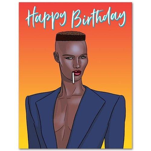 THE FOUND CARD-GRACE JONES HAPPY BIRTHDAY