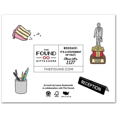 The Found CARD-JIM AND PAM BIRTHDAY