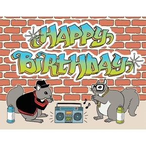 The Found HIP HOP SQUIRRELS BIRTHDAY CARD