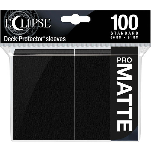 Ultra Pro International DECK PROTECTOR: ECLIPSE MATTE STANDARD - JET BLACK (100)
