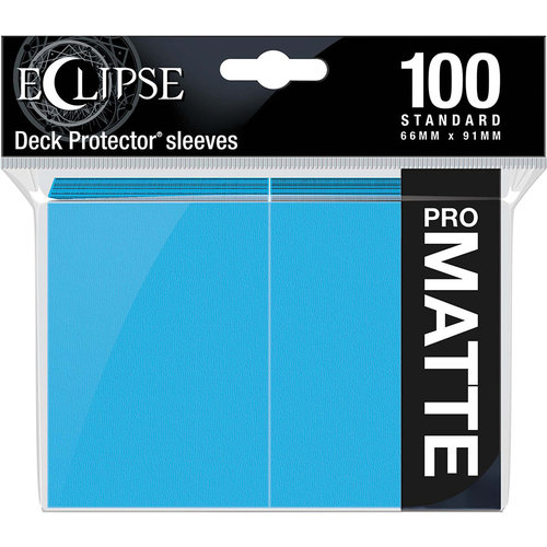 Ultra Pro International DECK PROTECTOR: ECLIPSE MATTE STANDARD - SKY BLUE (100)