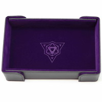 DICE TRAY: MAGNETIC PURPLE RECTANGLE