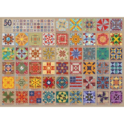 Cobble Hill CH1000 50 STATES QUILT BLOCKS