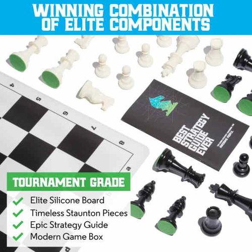 Best Chess Set Ever BEST CHESS SET EVER - 3-WEIGHT, BLACK BOARD