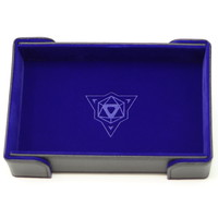 DICE TRAY: MAGNETIC BLUE RECTANGLE