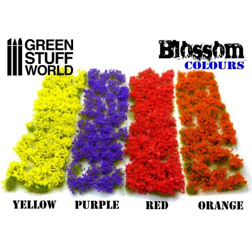 Green Stuff World BLOSSOM TUFTS - RED