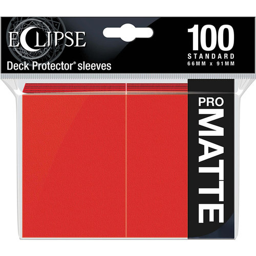 Ultra Pro International DECK PROTECTOR: ECLIPSE MATTE STANDARD - APPLE RED (100)