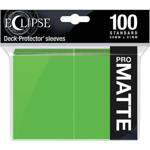Ultra Pro International DECK PROTECTOR: ECLIPSE MATTE STANDARD - LIME GREEN (100)
