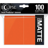 DECK PROTECTOR: ECLIPSE MATTE STANDARD - PUMPKIN ORANGE (100)