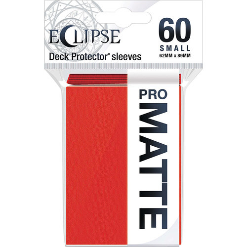 Ultra Pro International DECK PROTECTOR: ECLIPSE MATTE SMALL - APPLE RED (60)