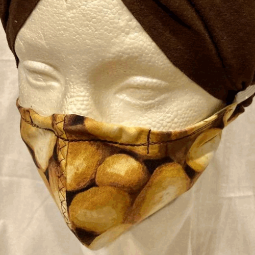 OTHER TIMES PRODUCTIONS PROTECTIVE MASK, FABRIC - POTATOES