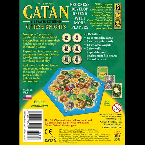 Catan Studios CATAN: CITIES & KNIGHTS 5-6 PLAYER EXTENSION
