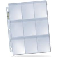 BINDER: 9 POCKET: LOOSE PAGES - SECURE PLATINUM CLEAR