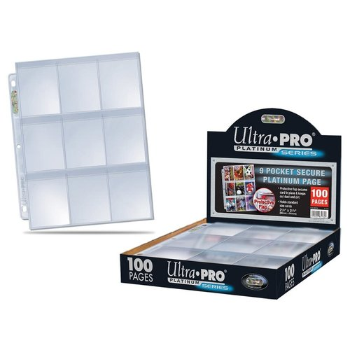 Ultra Pro International BINDER: 9 POCKET: LOOSE PAGES - SECURE PLATINUM CLEAR