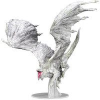 MINIS: D&D: ICONS OF THE REALMS: ADULT WHITE DRAGON - PREMIUM FIGURE