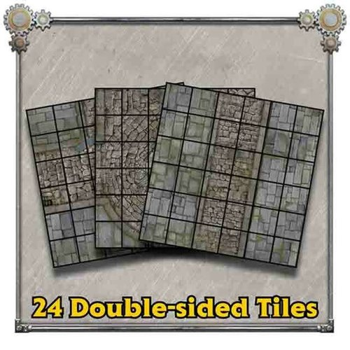 Privateer Press (Pre-Order) IRON KINGDOMS BATTLE TILES CORVIS STREETS (5E)