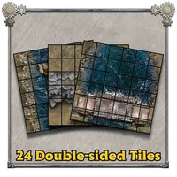 (Pre-Order) IRON KINGDOMS BATTLE TILES WILDLANDS WATERWAYS (5E)