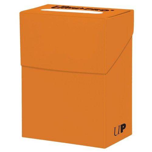 Ultra Pro International DECK BOX: SOLID PUMPKIN ORANGE