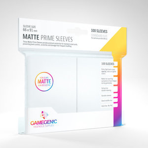 GAMEGENIC DECK PROTECTOR: MATTE PRIME - WHITE (100)